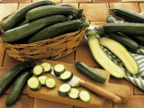 Close-Up of Courgettes Photographic Print by G. Pisacane