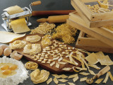 High Angle View of Assorted Pasta Photographic Print by P. Martini