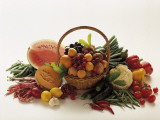 Close-Up of Fruits and Vegetables Photographic Print by G. Losito