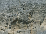 Close-Up of the Sculpture of a Man with a Horse on a Rock, Madara Rider, Bulgaria Photographic Print by A. Vergani