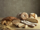Close-Up of Different Types of Breads Photographic Print by M. Del Comune