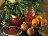 Close-Up of Two Jars of Plum Jam Photographic Print by P. Martini