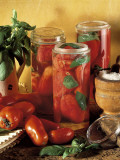 Close-Up of Preserved Tomatoes in Jars Photographic Print by P. Martini