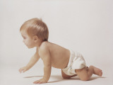 Baby Crawling Photographic Print by Dennis Hallinan