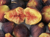 Close-Up of Figs (Ficus Carica) Photographic Print by M. Cerri