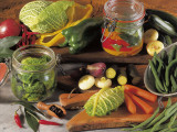Close-Up of Preserved Vegetables Photographic Print by P. Martini