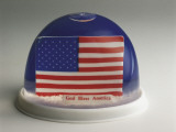 American Flag in a Snow Globe Photographic Print