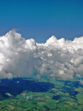 Airborne Irish Clouds and Fields Photographic Print by Dr. David J. Otway