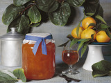 Close-Up of a Jar of Persimmon and Orange Marmalade Photographic Print by N. Chasseriau