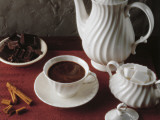 Close-Up of Cinnamon Flavored Hot Chocolates in a Cup on the Table Photographic Print by G. Pisacane