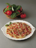 Close-Up of Spaghetti with Tomatoes in a Bowl Photographic Print by C. Ruggiero