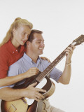 Couple with Guitar Photographic Print by Dennis Hallinan