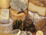 Close-Up of Various Types of Cheese Photographic Print by C. Sappa