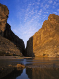 Mouth of Santa Elena Canyon and its Reflection in Rio Grande River Photographic Print by Jeff Foott