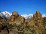 Alabama Hills Frame Mt Whitney and Lone Pine Peak Photographic Print by Jeff Foott