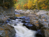 Water Flows over Rocks in the Swift River Photographic Print by Jeff Foott