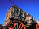 Detail of a 20 Mule Team Borax Wagon Belonging to Harmony Borax Works Photographic Print by Jeff Foott