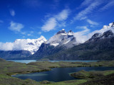 Mountain Landscape with Lakes, Torres Del Paine National Park, Patagonia, Chile Photographic Print by Jeff Foott
