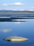 Fishing Cone and Ice in Yellowstone Lake, Yellowstone Np Wyoming, Usa, Spring Photographic Print by Jeff Foott
