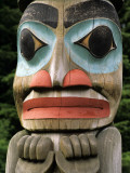 Totem Pole Detail, North American Indian Art Photographic Print by Jeff Foott