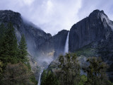 Spring Storm Clears over Upper and Lower Yosemite Falls Photographic Print by Jeff Foott