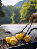 Grilling Sweet Corn on Bbq Photographic Print by Ippei Naoi