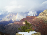 Storm Clouds and Rainbow over Grand Canyon, Grand Canyon National Park, Arizona, Usa Photographic Print by Jeff Foott