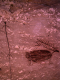 Pictograph of Native American Rock Photographic Print by Jeff Foott