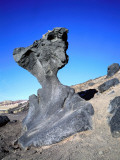 Mushroom Rock Is a Basalt Rock Eroded by Wind Carrying Sand Photographic Print by Jeff Foott