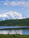 Usa, Alaska, Mount Mckinley, Wonder Lake, Panoramic View of the Mountain and Lake Photographic Print by Jeff Foott