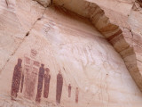 Detail of Great Gallery Panel of Native American Pictographs Photographic Print by Jeff Foott