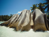 Large Granite Rocks on Beach Amidst Tropical Trees Photographic Print by Jeff Foott