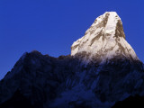 Ama Dablam Peak Highlighted by Sunset, Everest-Sagarmatha National Park, Nepal Photographic Print by Jeff Foott