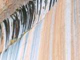 Detail of Water Stains on Sandstone Wall of Canyon in Fall Photographic Print by Jeff Foott
