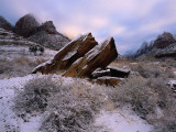 Rocks Rest at Bizarre Angles on the Ground in the Winter Photographic Print by Jeff Foott