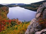 Autumn at Jordan Pond Is Viewed from Top of South Bubble Photographic Print by Jeff Foott
