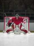 Ice Hockey Goalkeeper Fotografie-Druck