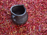 China, Jar with Red Pepper Photographic Print by Keren Su