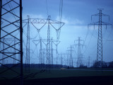 Electricity Pylons on a Landscape Photographic Print