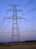 Power Line in Rural Area Photographic Print
