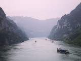 China, Yangtze River, Three Gorges, Landscape of Xiling Gorge Photographic Print by Keren Su