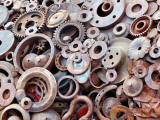 Scrap Metal Art Photographic Print by Lawatha Wisehart