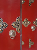 China, Tibet, Lhasa, Traditional Red Door Photographic Print by Keren Su
