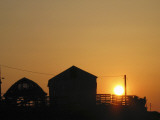 Minnesota, Paynesville, the Sun Rises over a Small Family Farm Photographic Print by Kimm Anderson
