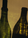 Shadows of Two Wine Bottles Photographic Print