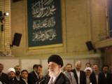 Iran's Supreme Leader Ayatollah Ali Khamenei delivers a speech Photographic Print
