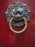 China, Shanghai, Ancient Knocker on Traditional Gate Photographic Print by Keren Su