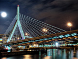 Zakim Bridge, Boston-Night Photographic Print
