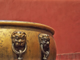 China, Beijing, Forbidden City, Giant Bronze Jar with Red Wall Photographic Print by Keren Su