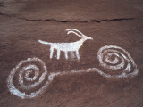 Petroglyph of Sheep Lámina fotográfica por Jeff Foott